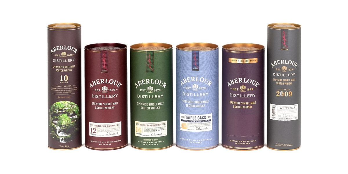 Aberlour Composite Tube Single Malt Whisky Packaging - Smurfit Kappa Composites - Premium Drink Packaging