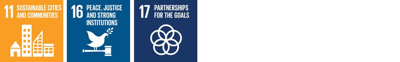 UN Sustainable Development Goals 11, 16 & 17