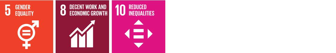 UN Sustainable Development Goals 5, 8 & 10