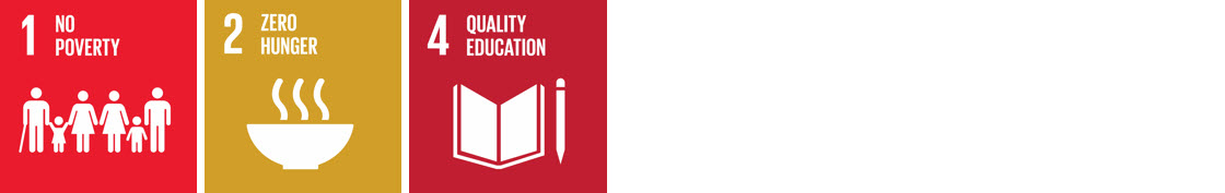UN Sustainable Development Goals 1,2 & 4