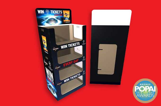 Point of Sale (POS) Display with shelves