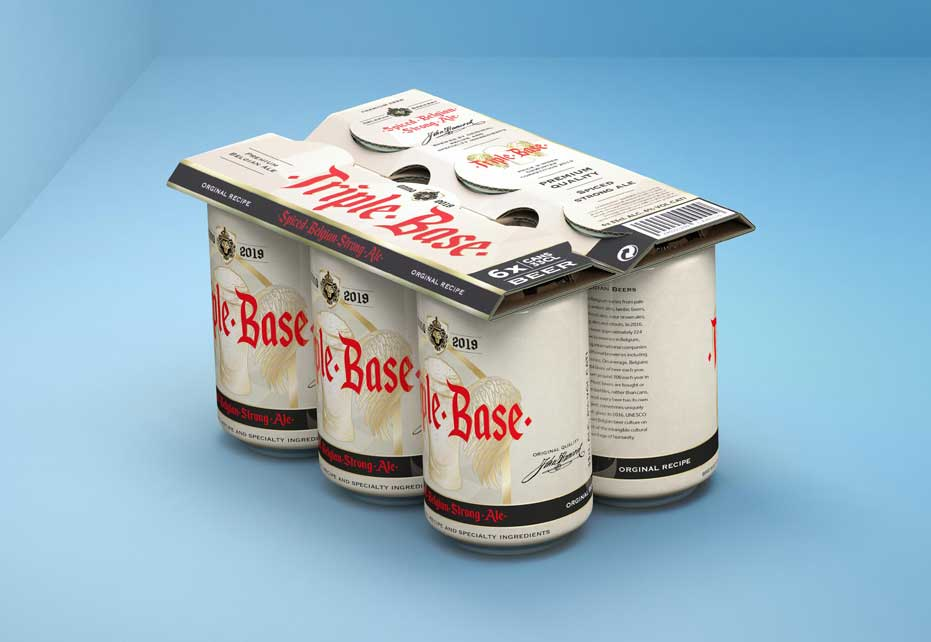 Top-Clip Cardboard Can-Topper for Beverages