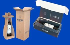 Single-Bottle-Packaging, Packaging for wine bottles