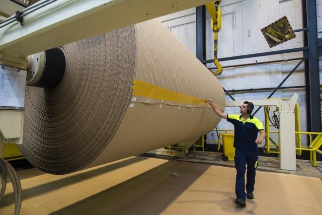 Bobine de papier pour ondulé