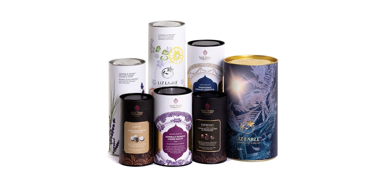composite tubes gift packaging group shot Smurfit Kappa Composites - 01946 61671