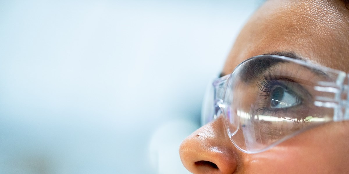 women wearing safety goggles