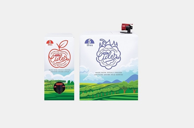 3 litre and 5 litre bag-in-box for cider