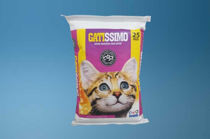 Cat litter packaging