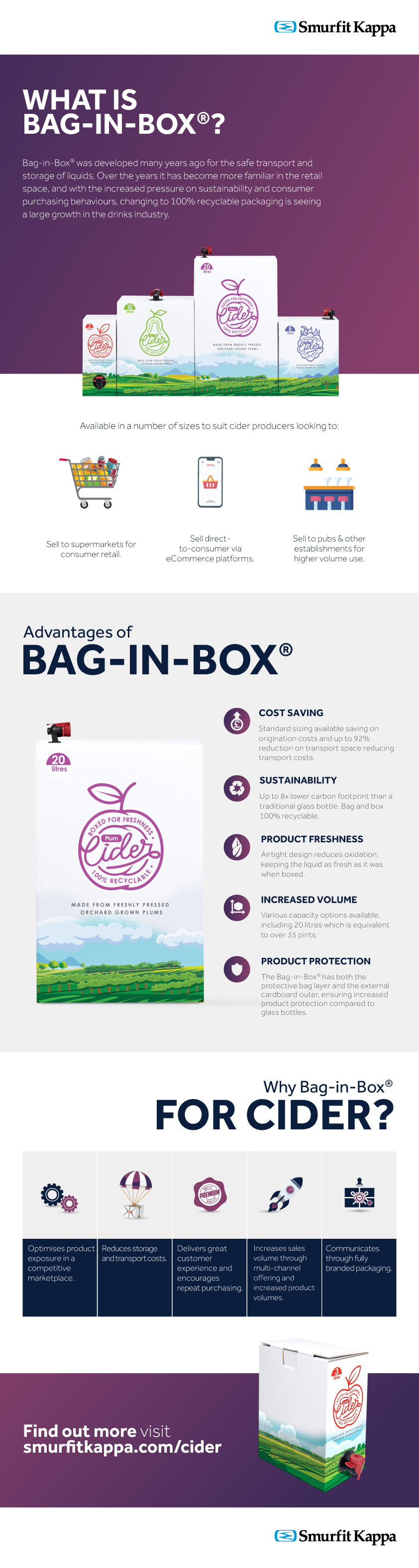 bag in box for cider infographic