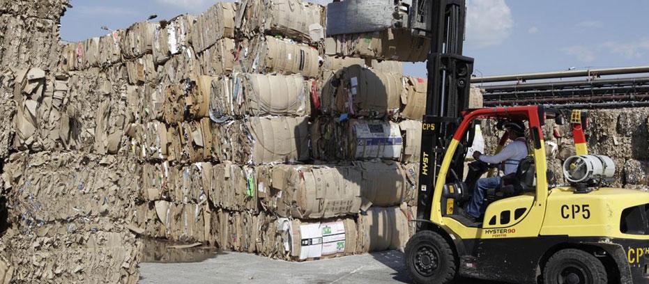 Recycling van papier en karton