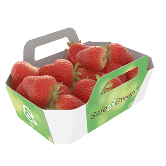 Strawberry Punnets open