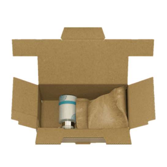 Scelpac, box with self-sealing paper